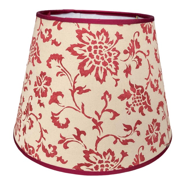 Brunschwig & Fils Floral Print Fabric Lampshade For Sale