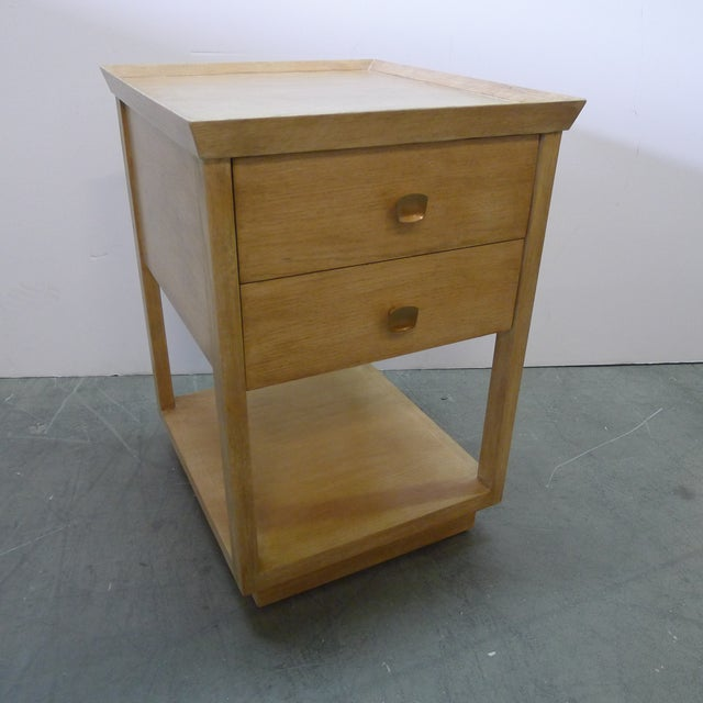 Paul Marra Two-Tier Nightstand in Rift Sawn Oak Natural Finish For Sale - Image 10 of 10