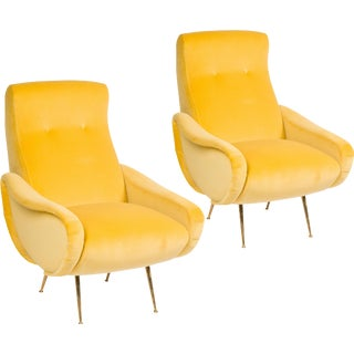 Pair of Italian Mid-Century Chairs in the Stryle of Marco Zanuso For Sale