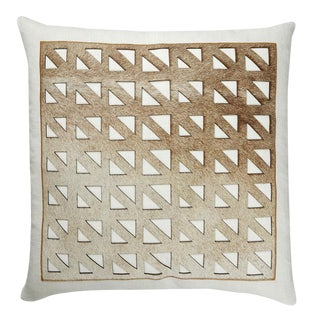 """Piper Collection Cutout Cowhide """"Mason"""" Pillow For Sale"""