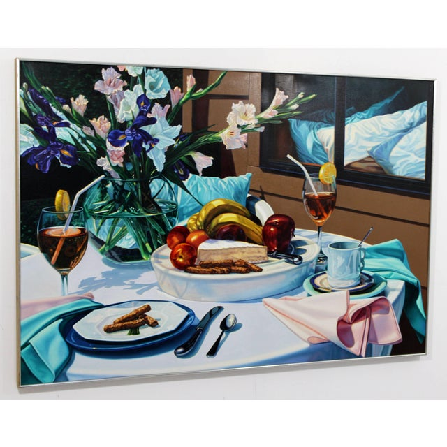 Kim Mendenhall framed oil on linen gorgeous photorealist painter, ''Brie,'' by Kim Mendenhall (American, b.1949), signed...