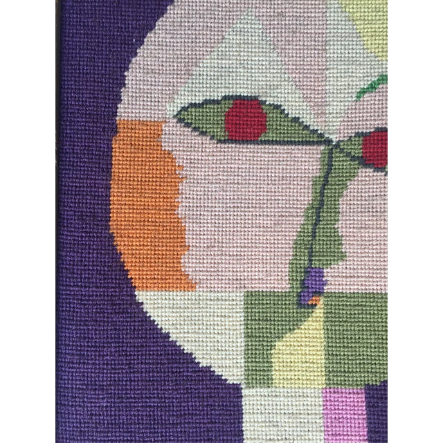 Vintage Paul Klee Style Modernist Needlepoint For Sale - Image 4 of 6