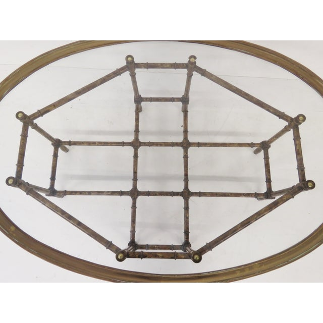 Bronze Tray Top Faux Bamboo Coffee Table - Image 5 of 5
