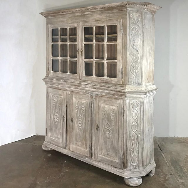 French 19th Century Country French Rustic Whitewashed Bookcase ~ Cabinet For Sale - Image 3 of 13