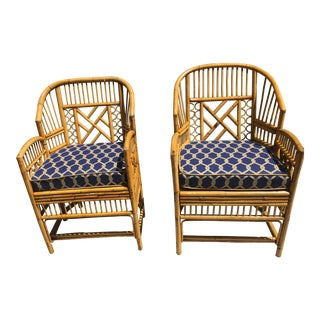 1970s Brighton Bamboo Armchairs - a Pair For Sale