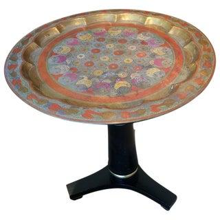 Regency Style Enameled Brass Top Side Table