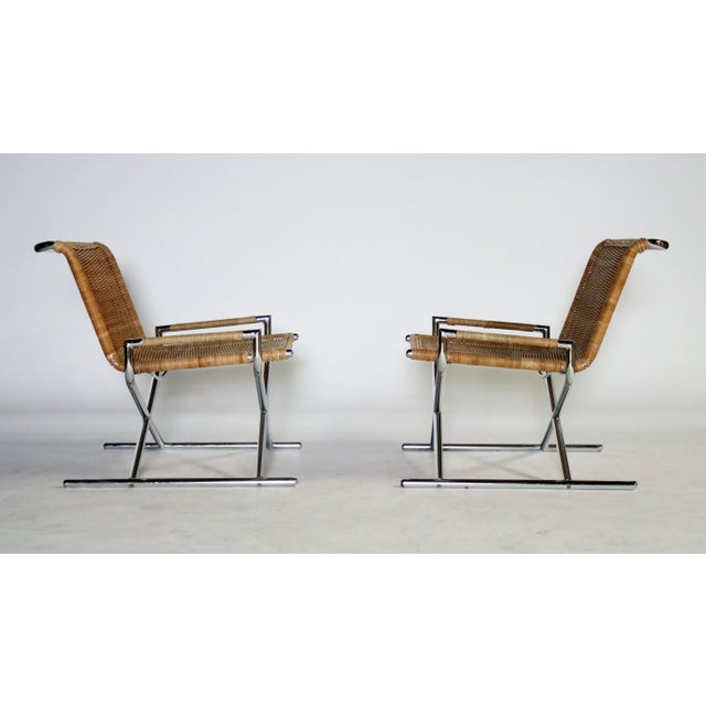 1970s Ward Bennett Brickel Sled Chairs For Sale - Image 5 of 11