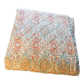 John Robshaw Kanchi Block Print Queen Quilt