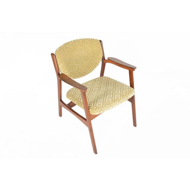 Danish Modern Rosewood & Mohair Armchair - Image 4 of 10