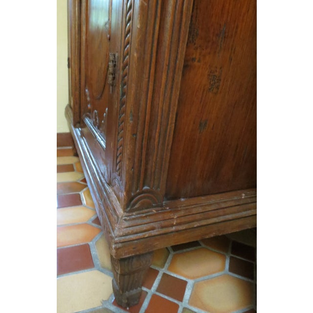 Dutch Colonial Style Armoire For Sale - Image 4 of 7