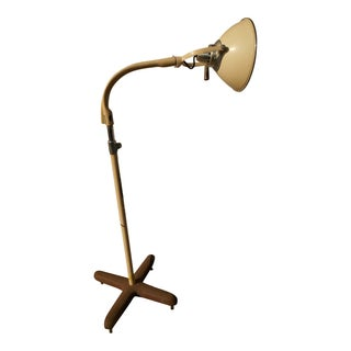 1940s Antique Castle Medical Floor Lamp For Sale