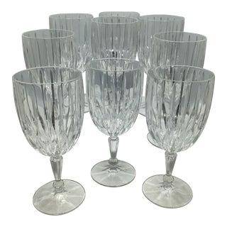 Vintage Mikasa Lexington Avenue Cut Crystal Ice Tea/Water Glasses - Set of 9 For Sale