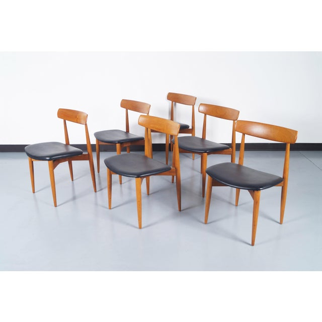 f46d8a40a377 Danish Modern Danish Modern Teak Dining Chairs by h.w. Klein For Sale -  Image 3 of