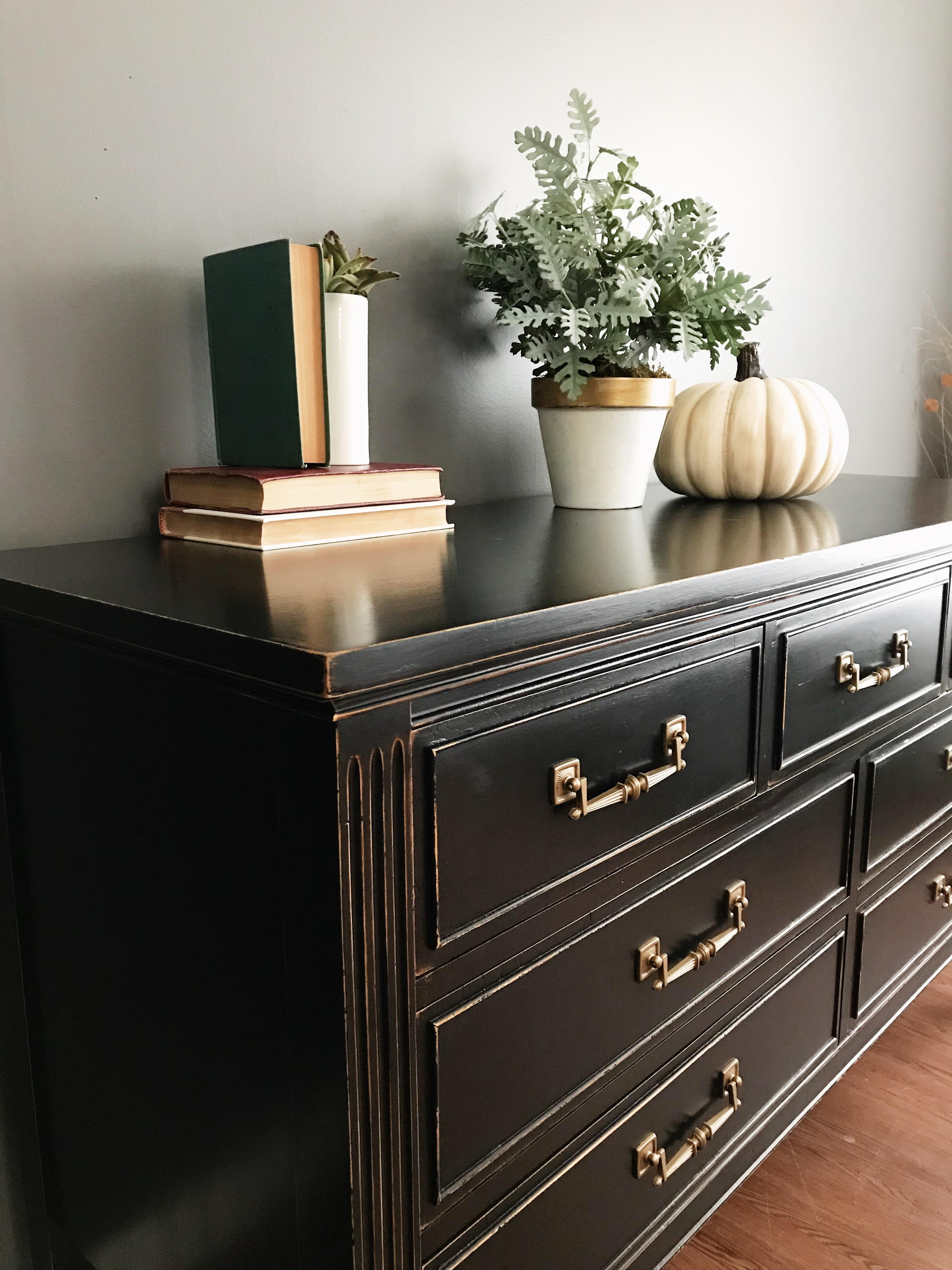Dixie Furniture Black Distressed Dresser For Sale In New York   Image 6 Of 8