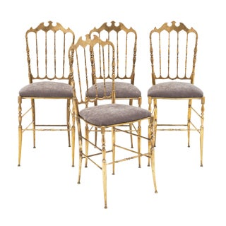 Set of Four Vintage Chiavari Chairs For Sale