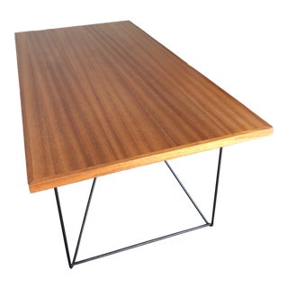 1950s Luther Conover Mahogany Table With Iron Hairpin Legs For Sale