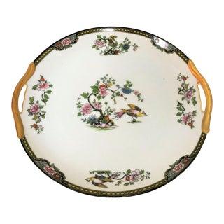 "Japanese Noritake Porcelain Serving Platter in ""Pheasant"" Pattern Circa 1920's For Sale"