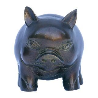 Bronze Pig Figurine