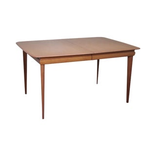 Heywood Wakefield Mid Century Modern Solid Maple Champagne Finish Dining Table For Sale