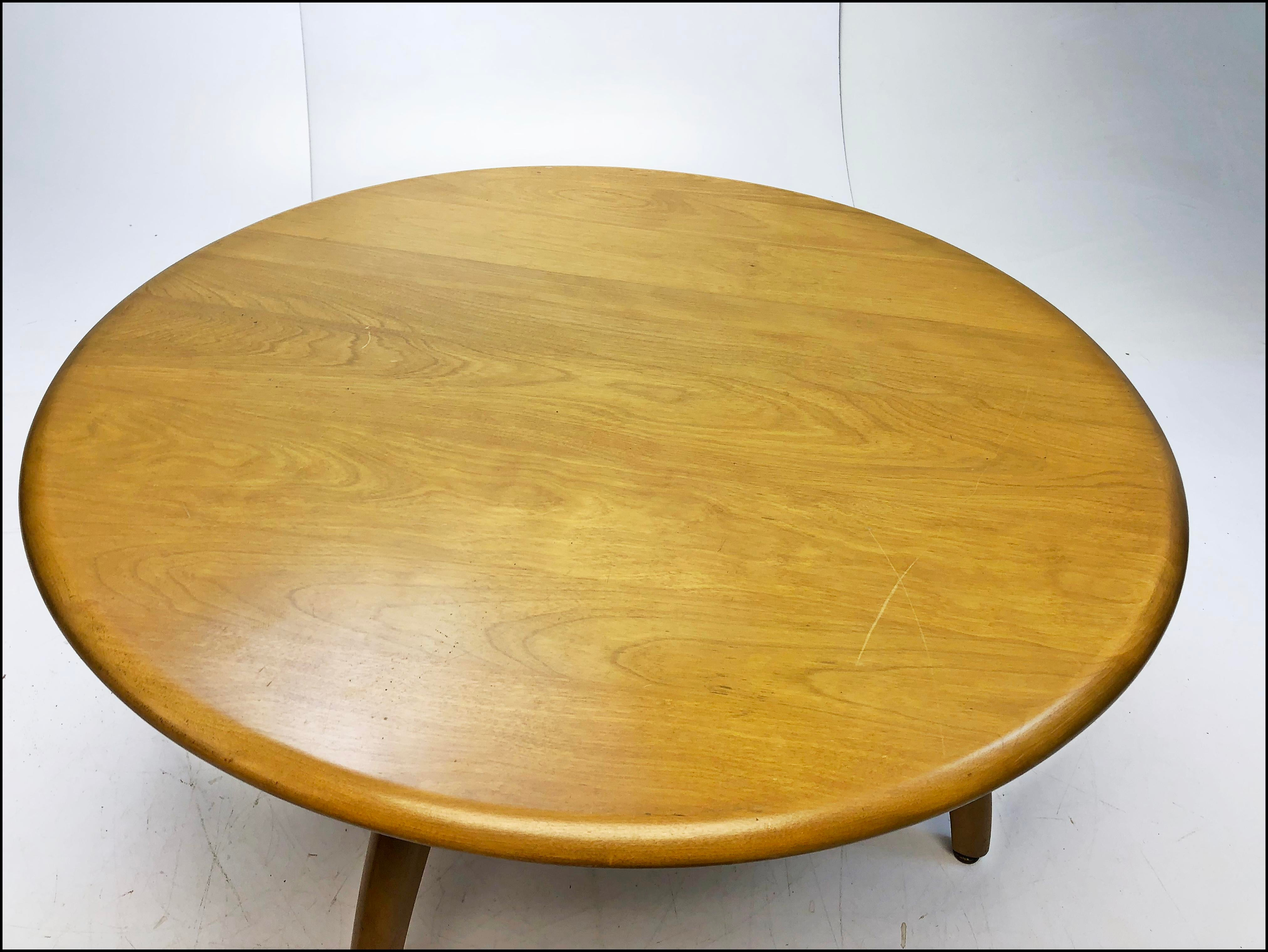 Mid Century Modern Heywood Wakefield Lazy Susan Coffee Table   Image 7 Of 13