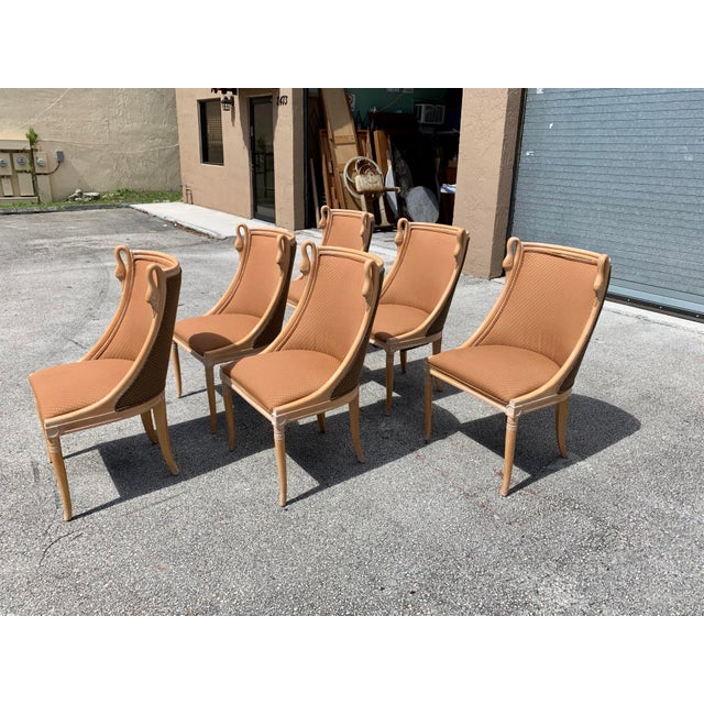 """Mid-Century Modern """"Gondola"""" Swan Neck Dining Chairs - Set of 6 For Sale In Miami - Image 6 of 13"""