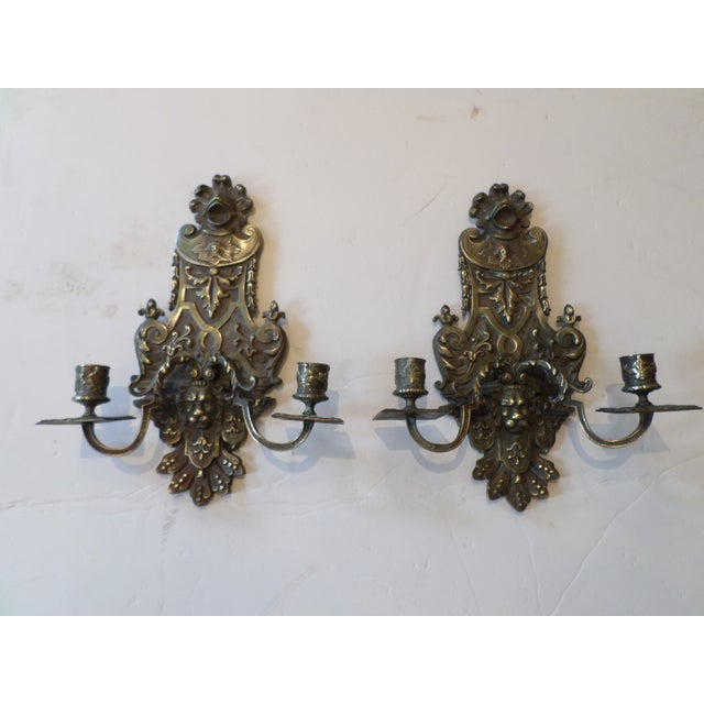 19th Century Italian Bronze Sconces - A Pair For Sale - Image 10 of 10