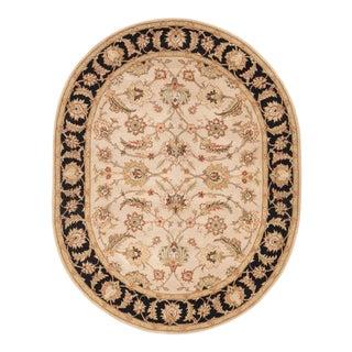 Jaipur Living Selene Handmade Floral Beige Black Oval Area Rug 8'X10' For Sale