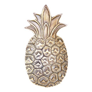 Brass Pineapple Catchall / Paper Weight For Sale