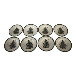 Spode Christmas Tree Bread & Butter Plates - Set of 8 For Sale