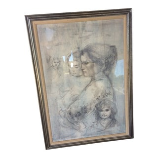 Limited Edition Lithograph by Edna Hibel. 14/47 For Sale