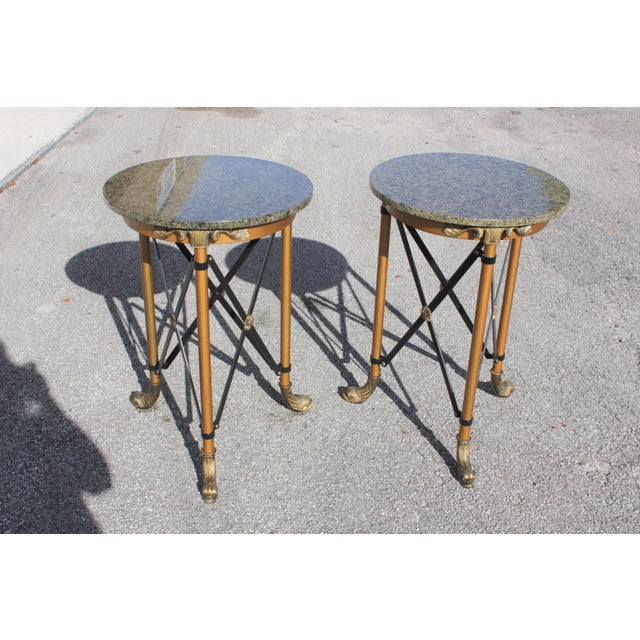 1920s French Neoclassical Bronze Side Tables - a Pair For Sale In Miami - Image 6 of 13