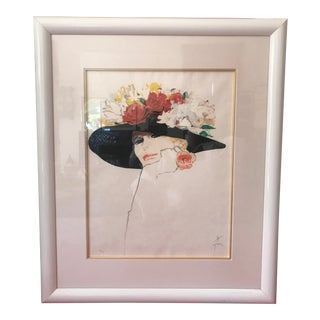 Rene Gruau Lithograph 'La Rose Rouge' For Sale