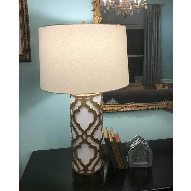 Contemporary Arabella Gold Table Lamp For Sale - Image 10 of 10