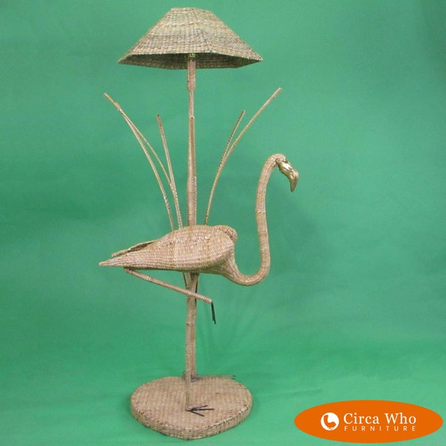 Flamingo With Reed Floor Lamp by Mario Lopez Torres For Sale In West Palm - Image 6 of 6