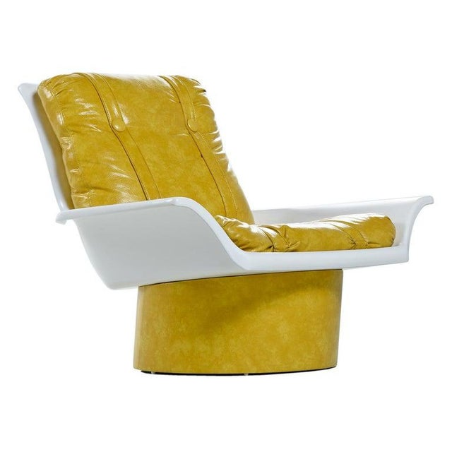 Futorian Decorian Molded Plastic Lemon Candy Shell Italian Modern Lounge Chairs For Sale In Tampa - Image 6 of 13