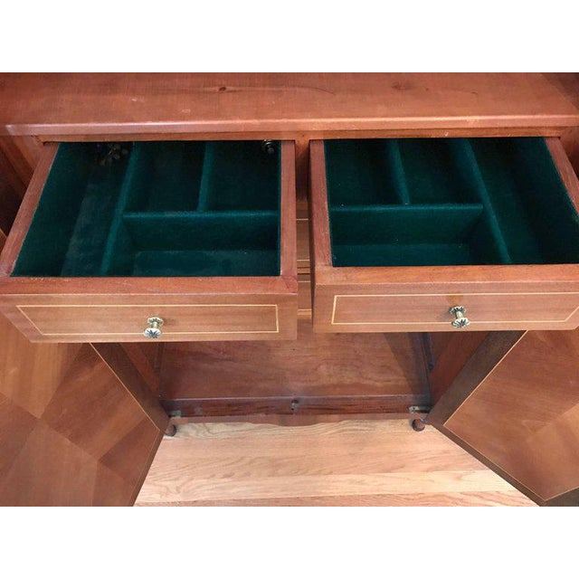 In the style of Mercier Freres, this 1920s, French piece can function as a cabinet, credenza or sideboard. The crotch...