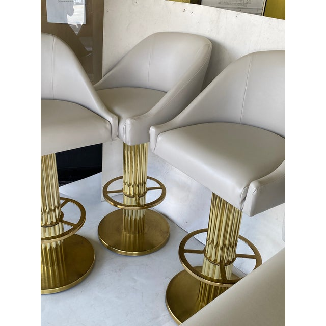 1980s Vintage Designs for Leisure Barstools - Set of 5 For Sale In West Palm - Image 6 of 12