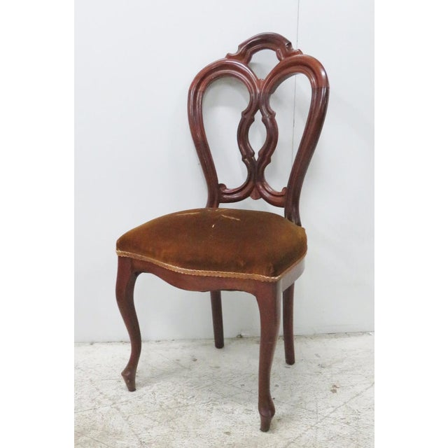 Victorian Mahogany Side Chair For Sale In Philadelphia - Image 6 of 6