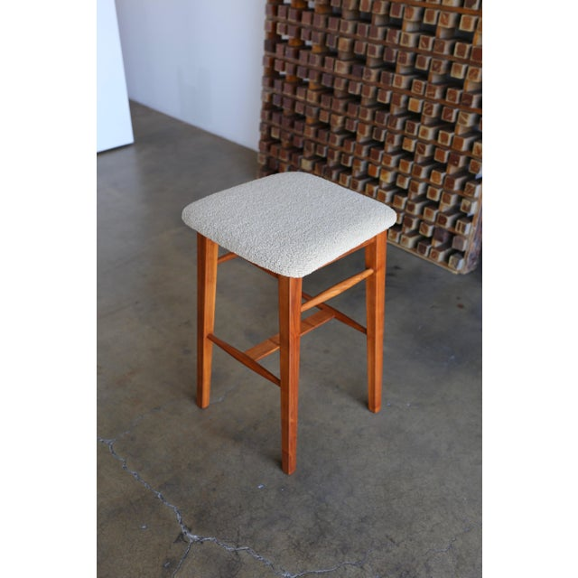 Mid-Century Modern Kipp Stewart for Glenn of California Walnut Stools - a Pair For Sale In Los Angeles - Image 6 of 11