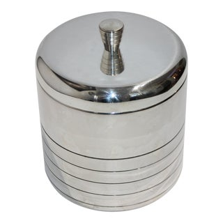 Christofle Silver Plate Insulated Lidded Ice Bucket For Sale