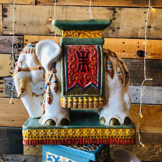 1960s Ceramic Palm Beach Hollywood Regency Elephant - Set of 3 For Sale - Image 5 of 11