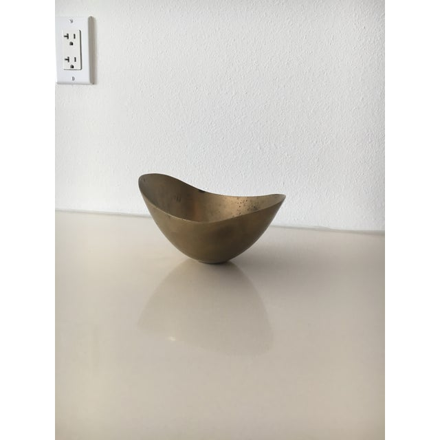 Metal Mid-Century Cuban Brass Bowl For Sale - Image 7 of 7