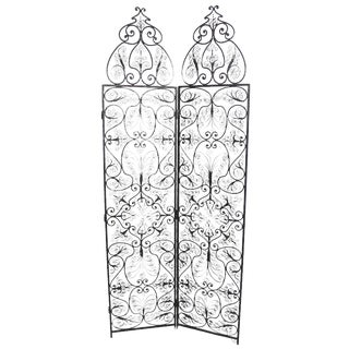 Moroccan Wrought Iron Room Screen For Sale