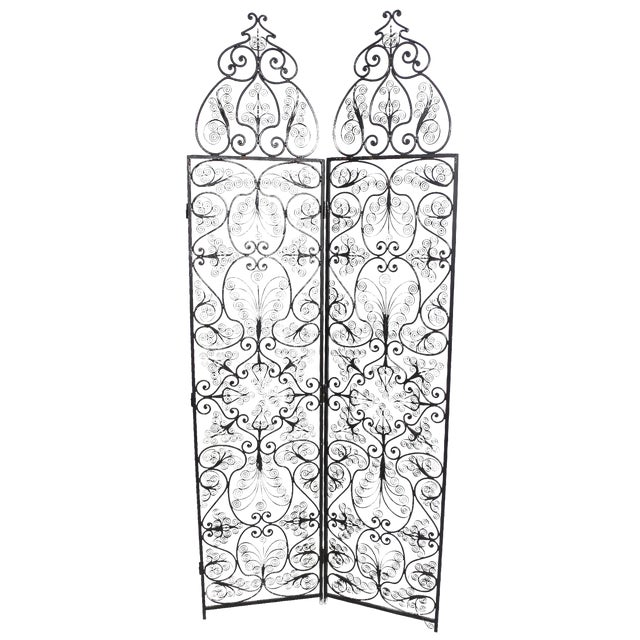 Moroccan Wrought Iron Room Screen - Image 1 of 6