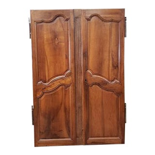 Pair of Mid 19th Century French Walnut Door Panels C.1850s For Sale