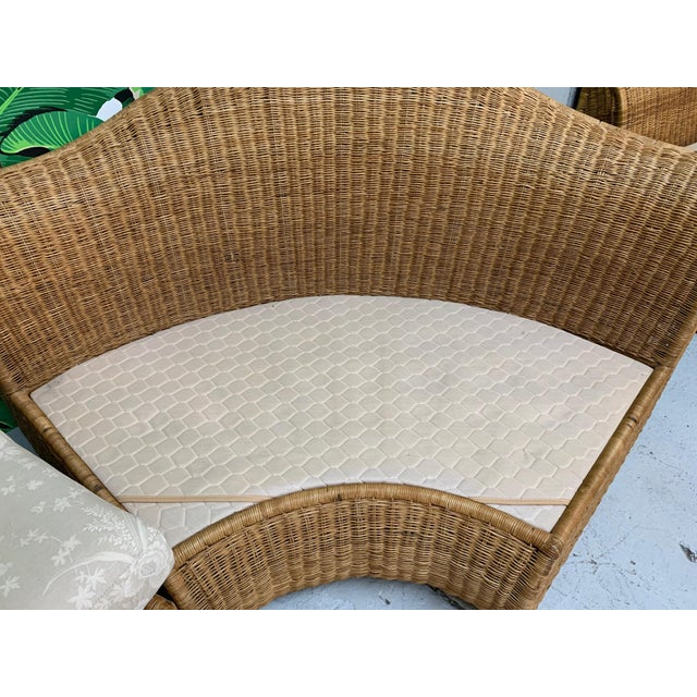 Large Sculptural Wicker Sectional Sofa For Sale - Image 10 of 13