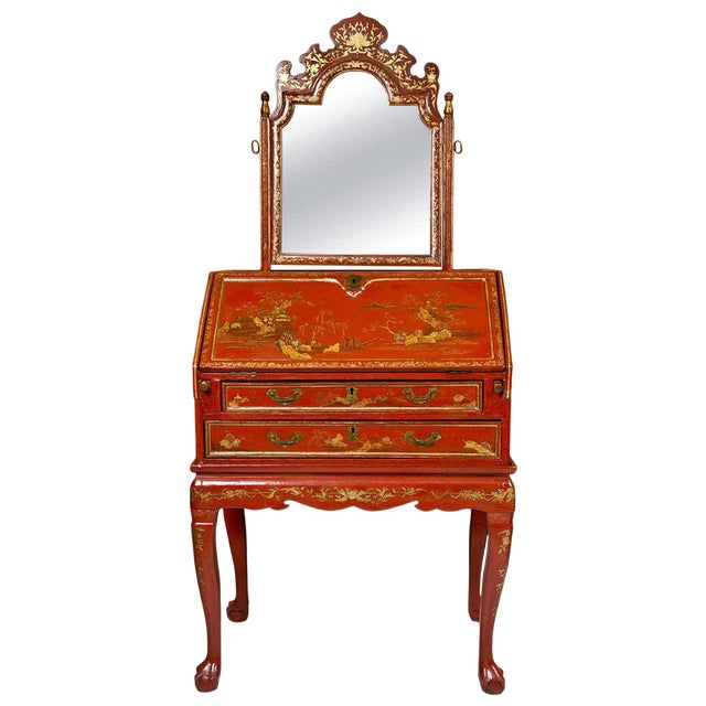 Antique 19th Century Painted Chinoiserie Vanity For Sale