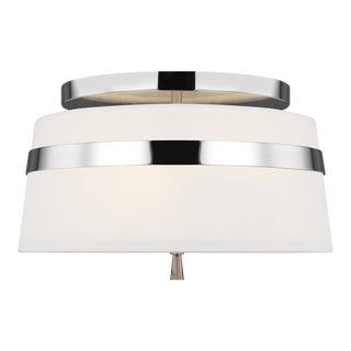 Alexa Hampton by Generation Lighting Cordtlandt Small Semi-Flush Mount, Silver For Sale