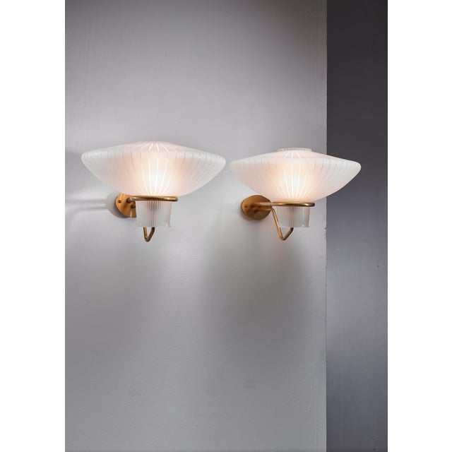Mid-Century Modern Pair of Asea wall lamps, Sweden, 1950s For Sale - Image 3 of 5