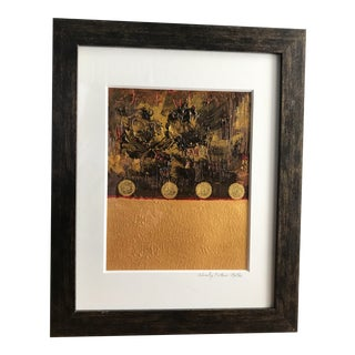 Original Wendy Plotkin-Mates Mixed Media/Gold Painting For Sale